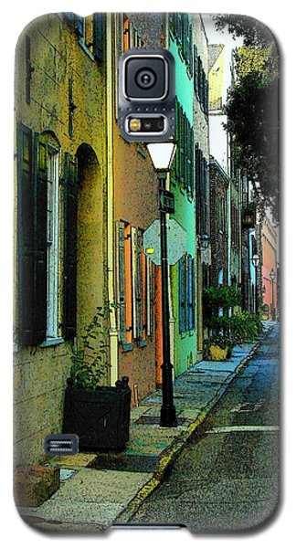 Galaxy S5 Case featuring the photograph Back Street In Charleston by Rodney Lee Williams