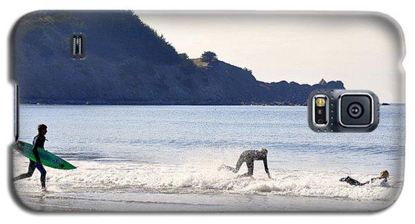 Galaxy S5 Case featuring the photograph Back To The Sea by AJ  Schibig