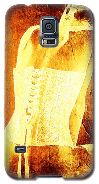 Galaxy S5 Case featuring the digital art Backbone Fashion by Andrea Barbieri