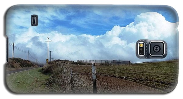 Backroads- Telephone Poles- And Barbed Wire Fences Galaxy S5 Case