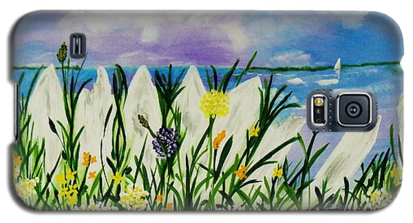 Galaxy S5 Case featuring the painting Backyard Beach by Celeste Manning