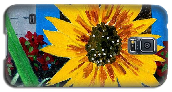 Backyard Flowers  Galaxy S5 Case