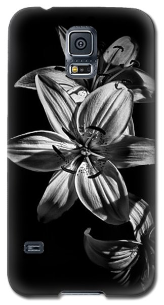 Backyard Flowers In Black And White 9 Galaxy S5 Case