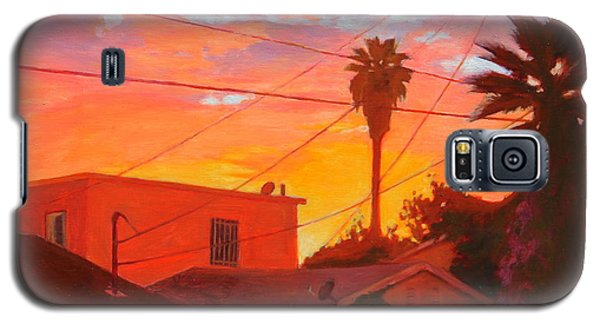 backyard in East LA Galaxy S5 Case by Andrew Danielsen