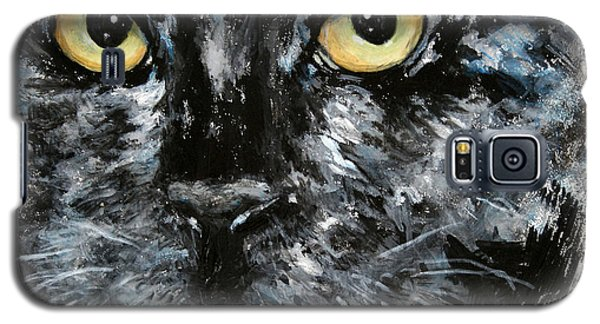 Galaxy S5 Case featuring the painting Bad Malcolm by Alison Caltrider