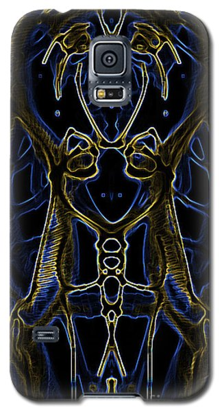 Galaxy S5 Case featuring the digital art Badge Variation 4 by Devin  Cogger