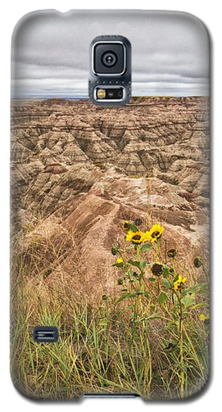 Badlands Wild Sunflowers Galaxy S5 Case