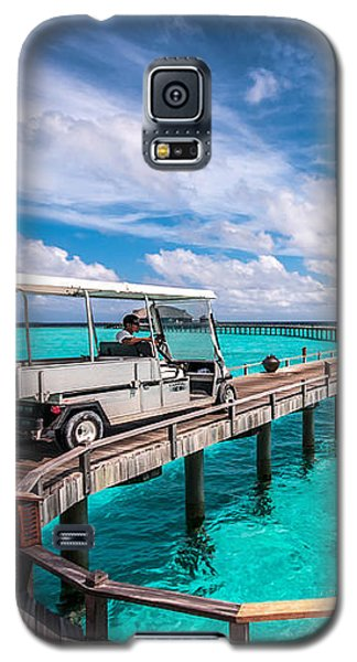 Baggy On The Jetty Over The Blue Lagoon Galaxy S5 Case