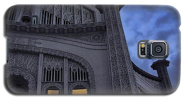 Galaxy S5 Case featuring the photograph Bahai Temple Detail At Dusk by John Hansen