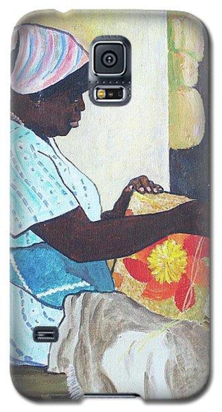 Bahamian Woman Weaving Galaxy S5 Case