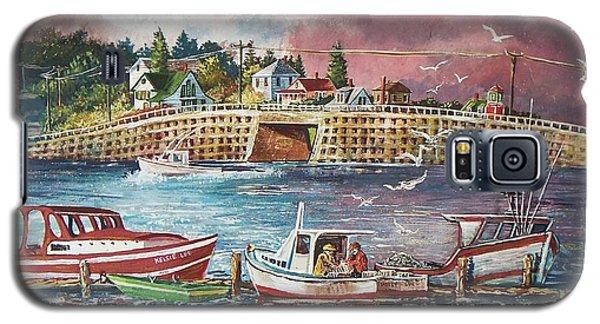 Bailey Island Cribstone Bridge Galaxy S5 Case by Joy Nichols