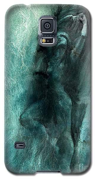 Galaxy S5 Case featuring the drawing Balance With Mood Texture by Paul Davenport