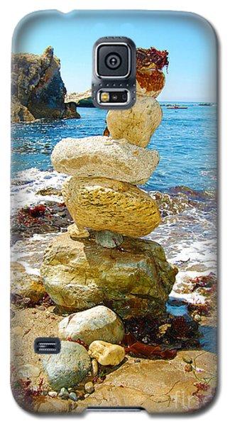 Balanced Beach Rock Stack Galaxy S5 Case