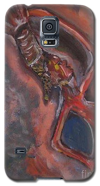 Galaxy S5 Case featuring the painting Balancing Act by Lucy Matta