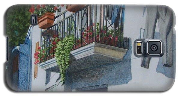 Balcony In Maratea Galaxy S5 Case