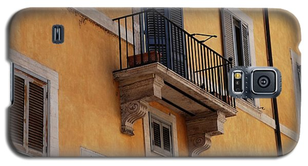 Galaxy S5 Case featuring the photograph Balcony Piazza Della Madallena In Roma by Dany Lison