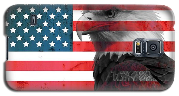 Bald Eagle American Flag Galaxy S5 Case