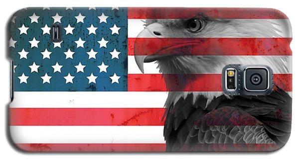 Bald Eagle American Flag Galaxy S5 Case