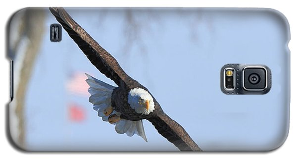Bald Eagle And Flag Galaxy S5 Case