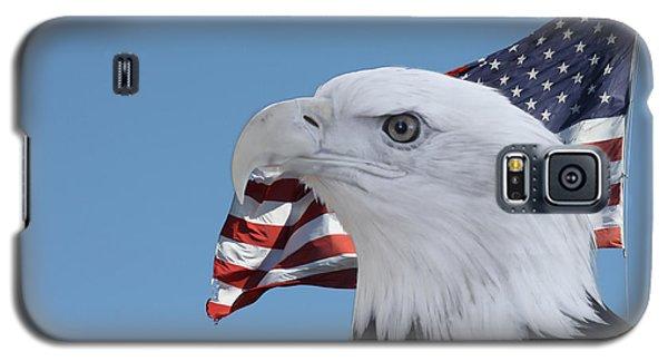Bald Eagle And Flag Galaxy S5 Case