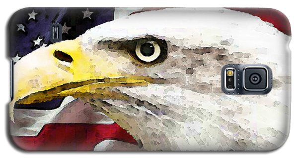 Bald Eagle Art - Old Glory - American Flag Galaxy S5 Case by Sharon Cummings