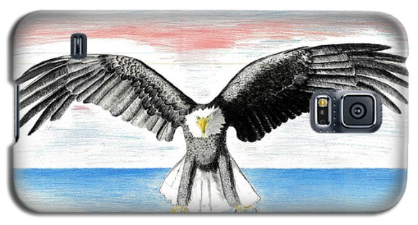 Galaxy S5 Case featuring the drawing Bald Eagle by David Jackson