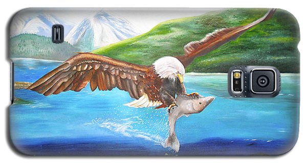 Bald Eagle Having Dinner Galaxy S5 Case