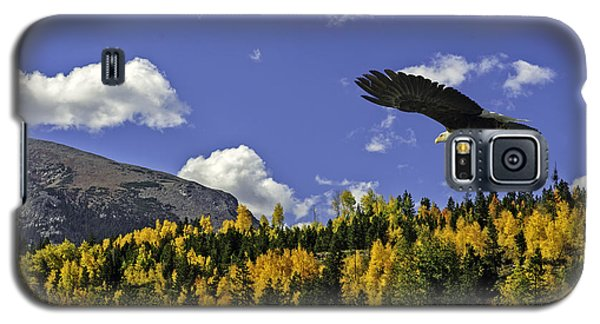 Bald Eagle Over The Aspen Galaxy S5 Case by Stephen  Johnson