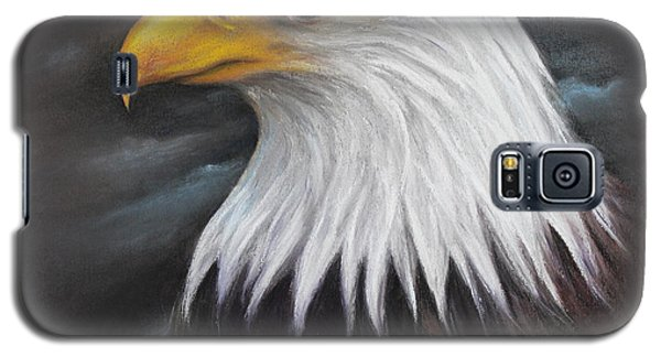 Galaxy S5 Case featuring the drawing Bald Eagle by Patricia Lintner
