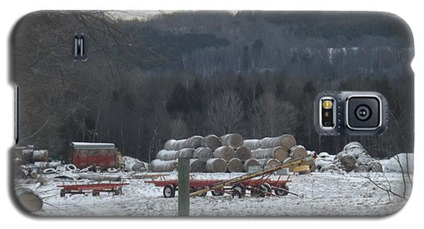 Galaxy S5 Case featuring the photograph Bales Of Hay by Brenda Brown