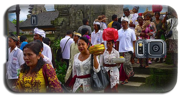 Balinese Leaving Beratan Temple Bali Galaxy S5 Case