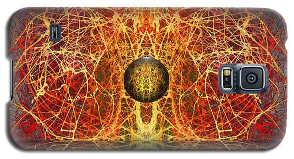 Galaxy S5 Case featuring the digital art Ball And Strings by Otto Rapp