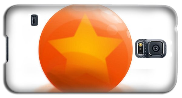 Galaxy S5 Case featuring the sculpture orange Ball decorated with star white background by R Muirhead Art