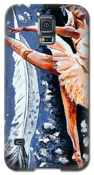 Galaxy S5 Case featuring the painting Ballerina by Daniel Janda