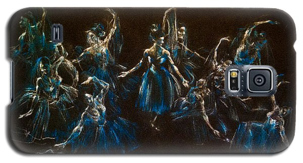 Galaxy S5 Case featuring the painting Ballerina Ghosts by Jani Freimann