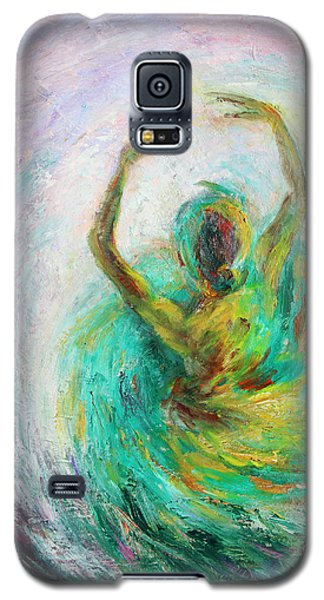 Galaxy S5 Case featuring the painting Ballerina by Xueling Zou