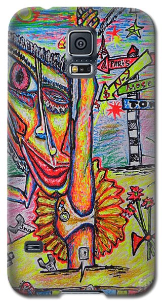 Galaxy S5 Case featuring the painting Ballet/sketch/ by Viktor Lazarev