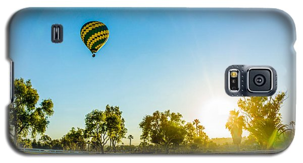 Galaxy S5 Case featuring the photograph Balloon At Sunset by Alex Weinstein