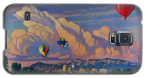 Galaxy S5 Case featuring the painting Ballooning On The Rio Grande by Art James West