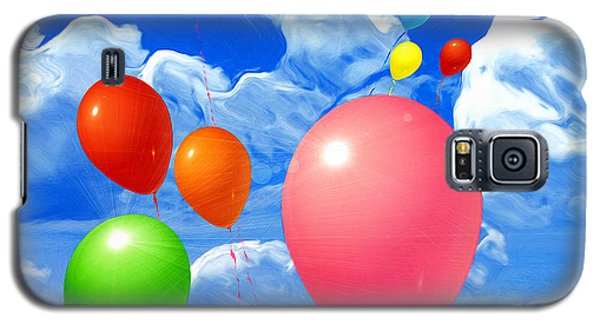 Galaxy S5 Case featuring the painting Balloons by Daniel Janda