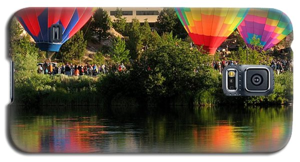 Galaxy S5 Case featuring the photograph Balloons Over Bend Oregon by Kevin Desrosiers