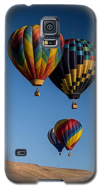 Galaxy S5 Case featuring the photograph Balloons Over Northern Nevada by Janis Knight