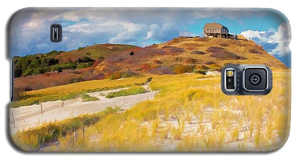 Galaxy S5 Case featuring the photograph Ballston Beach Dunes Photo Art by Constantine Gregory