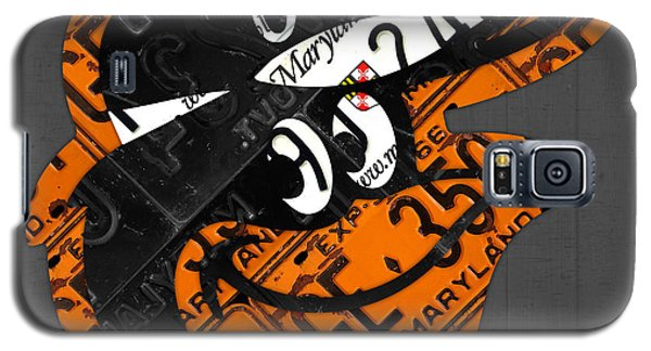 Baltimore Orioles Vintage Baseball Logo License Plate Art Galaxy S5 Case by Design Turnpike