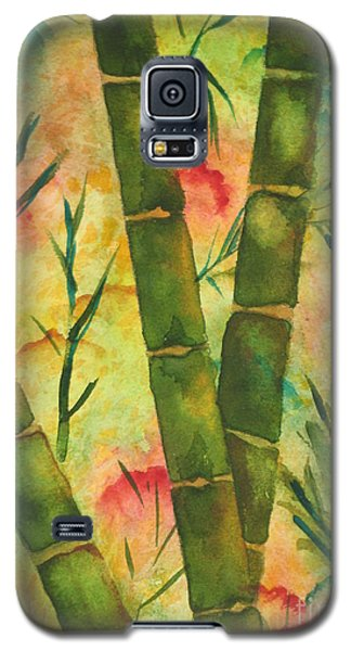 Galaxy S5 Case featuring the painting Bamboo Garden by Chrisann Ellis