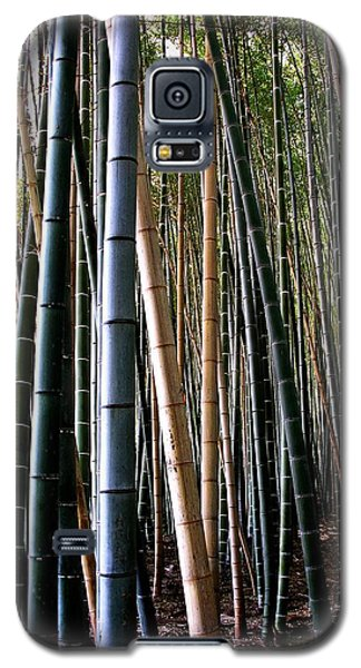 Galaxy S5 Case featuring the photograph Bamboo In Sagano Japan by Jacqueline M Lewis