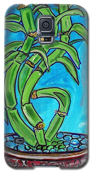 Galaxy S5 Case featuring the painting Bamboo Twist by Ecinja Art Works