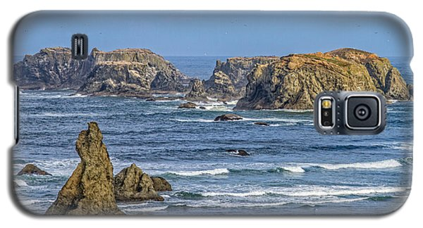 Galaxy S5 Case featuring the tapestry - textile Bandon Beach Landscape by Dennis Bucklin