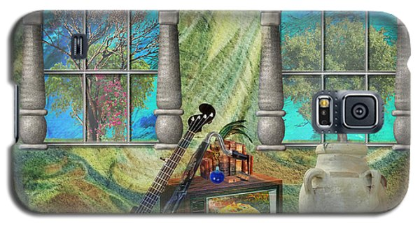 Galaxy S5 Case featuring the mixed media Banjo Room by Ally  White
