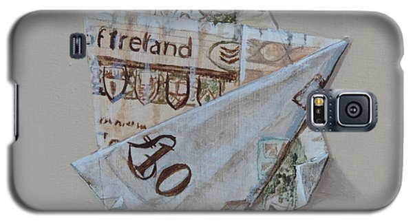 Galaxy S5 Case featuring the painting Bank Of Ireland Ten Pound Banknote by Barry Williamson